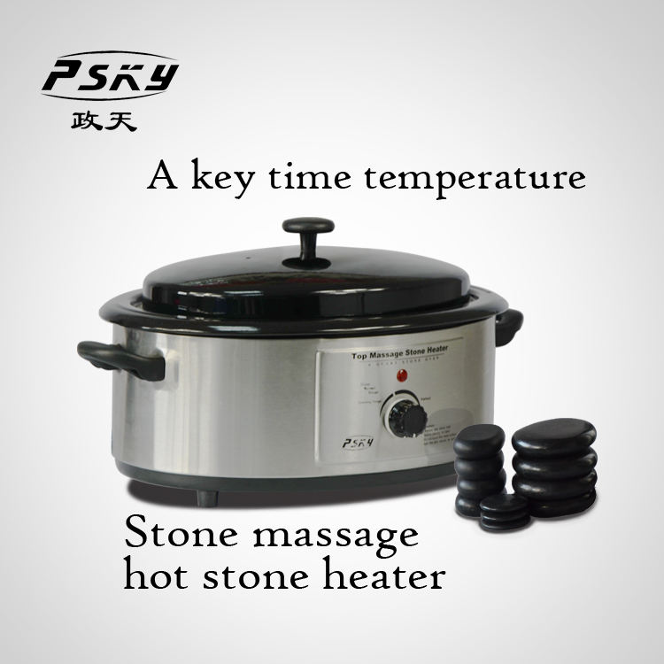 KA-6Q Portable Electric Hot Stone Heater , Hot Spa Basalt Massage Stones Warmer