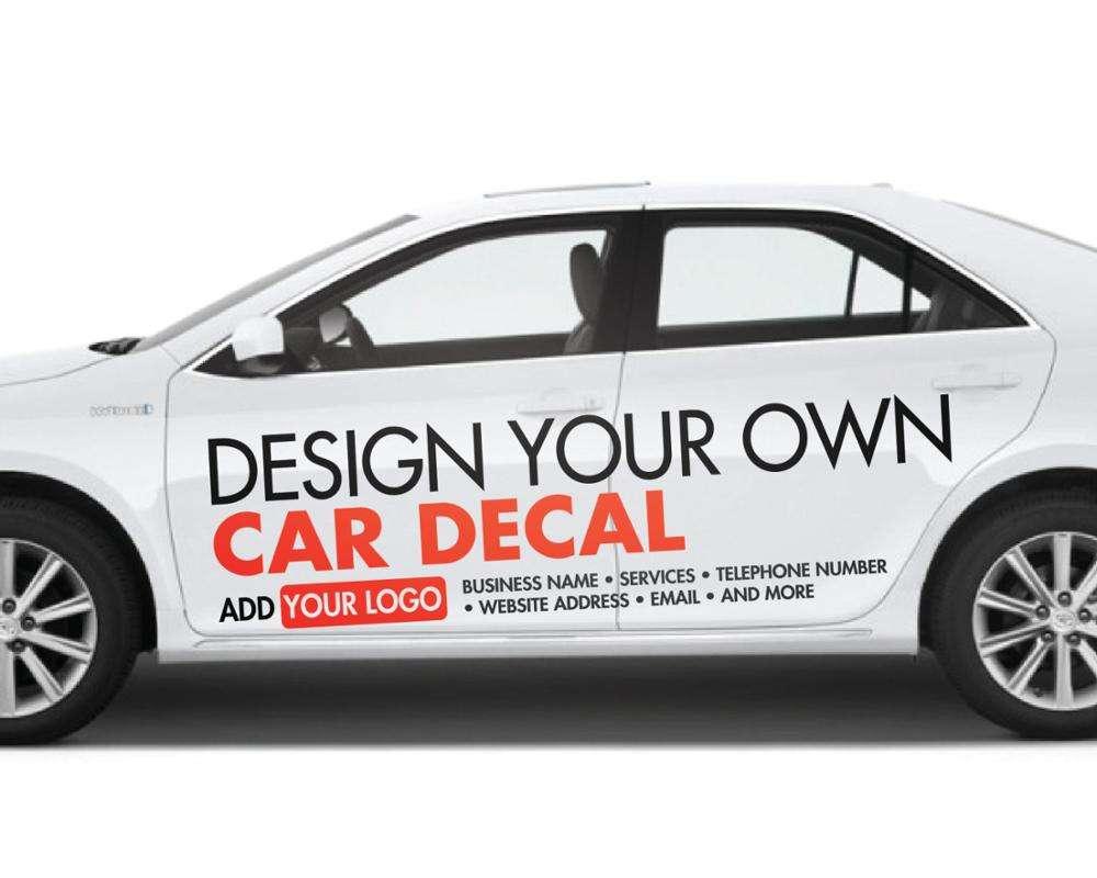 PVC Decal Car Bumper windshield Decoration Sticker Customized