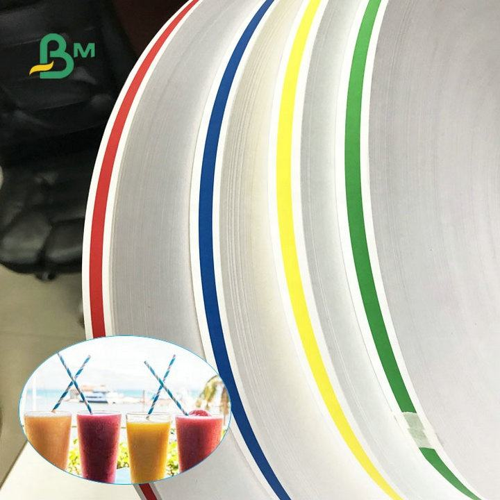 28gsm 60gsm120gsm Glazed Food Grade Straws Paper Width 14mm 15mm 27mm Make Paper Straws