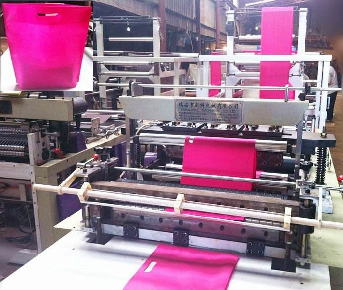 fully automatic high speed best price good quality non woven bag making machine in india