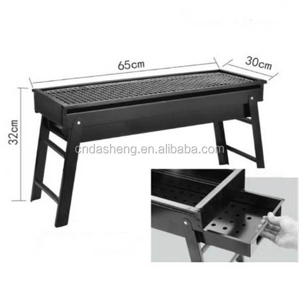 Durable black Iron outdoor charcoal bbq grill grilled bbq