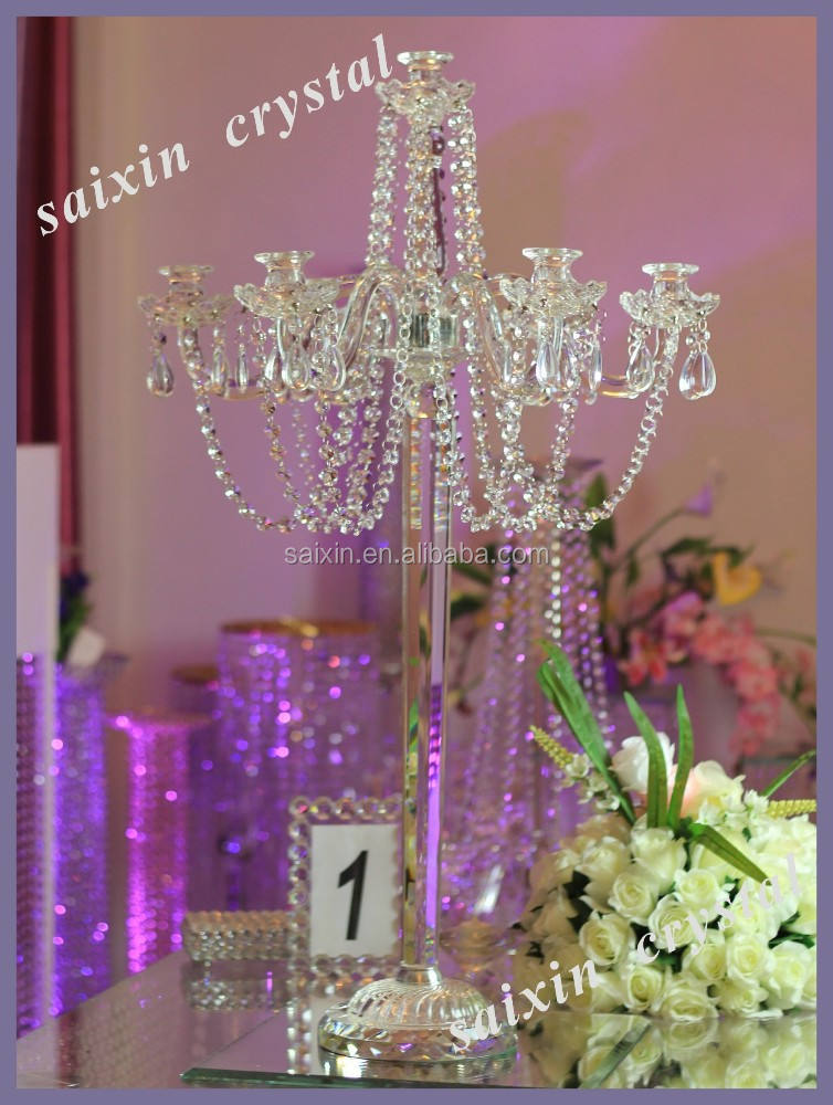 Event decoration crystal candle stands wedding centre pieces