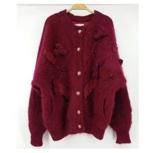 Custom Logo Autumn Winter Warm Mohair Sweater Women Unisex Sweater Mohair