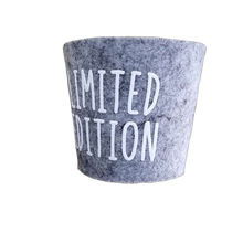 Customized luxury  cup holder non-woven fabrics cup sleeve coffee glasses cup holder
