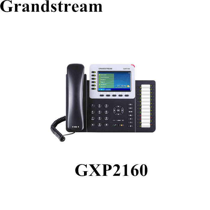 High End Wifi Bluetooth 6 Baris IP Telepon VOIP SIP Grandstream GXP2160