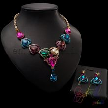 multi stone jewellery sets lifeful Crystal jewelry set india jewellery manufacturing