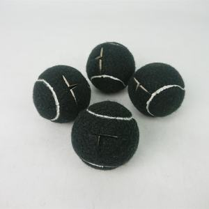 A Set of 4 Black Color Chair Tennis Balls cut tennis ball bulk pre-cut tennis ball