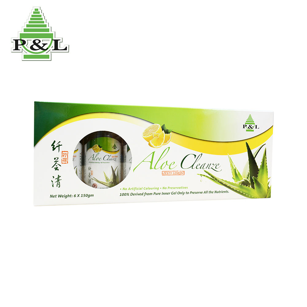 P & L Brand Aloe Vera Drink Juice Organic With Zesty Lemon