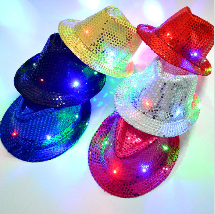 OEM led lights flashing funny glitter party hat