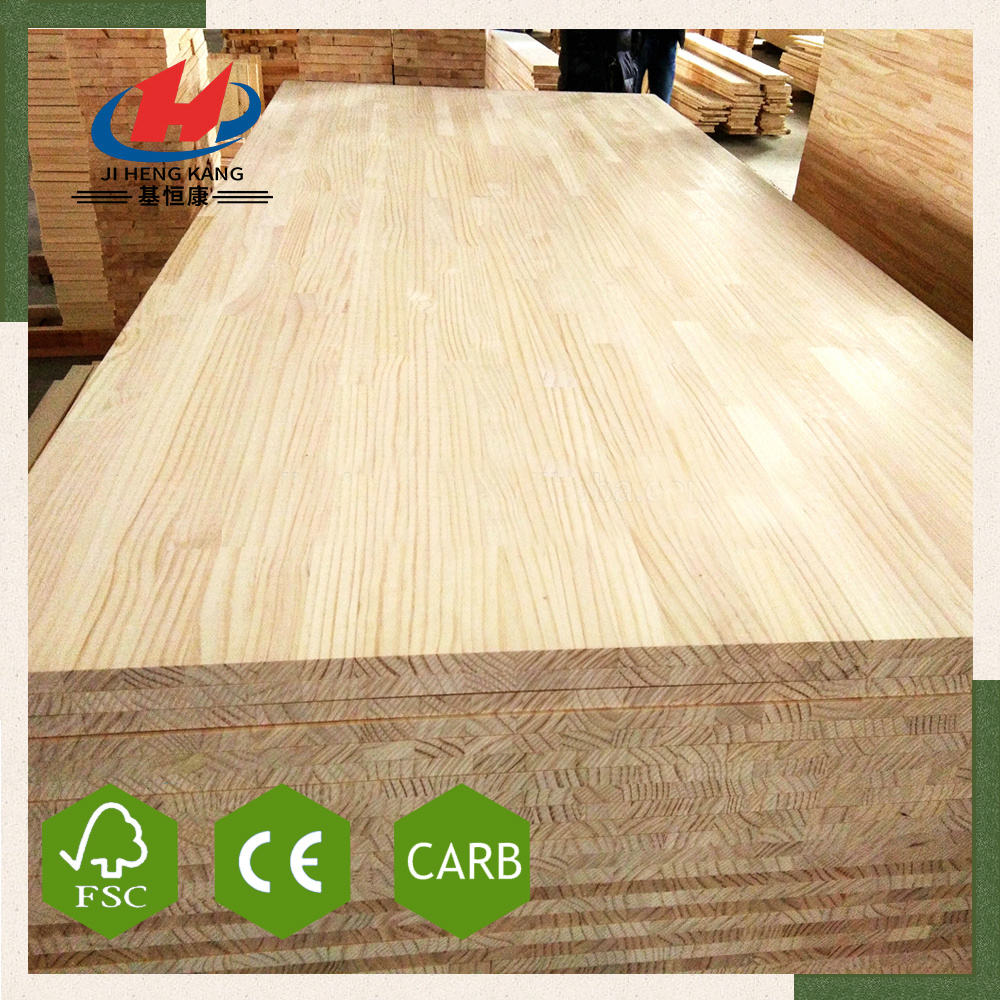With Free Sample [ Finger Joint Board ] Import Finger Joint Board JHK- Wholesale Chest Sugar Yellow Pine Wood Butt Finger Joint Board