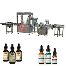 Fully automatic liquid filling machine small dose 15ml tincture bottle 30ml cbd oil bottling filling capping machine Top sell