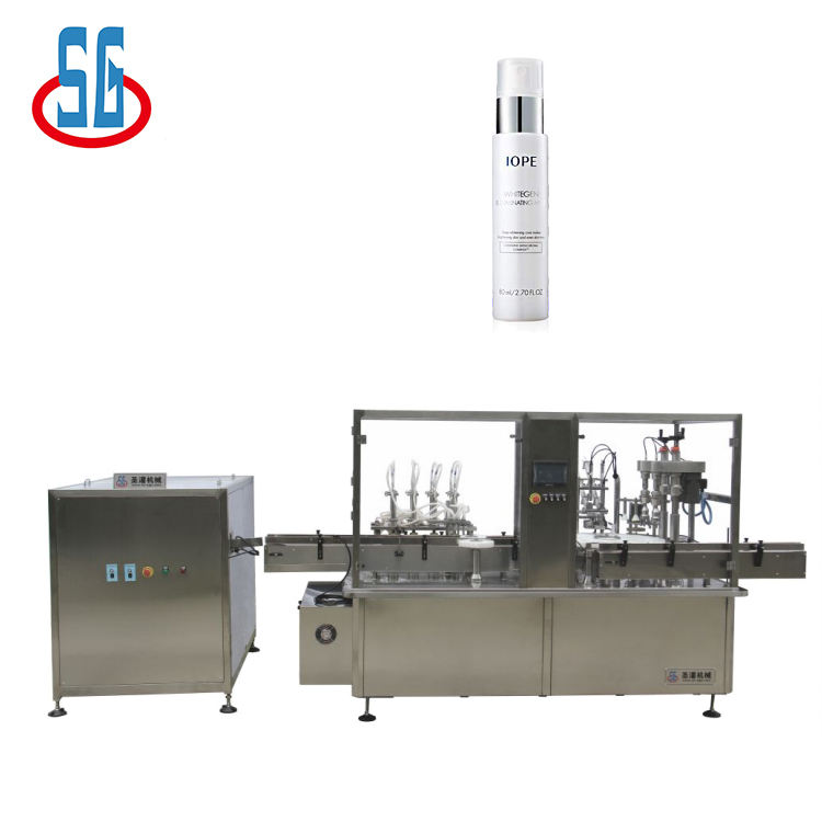 SGPWJ Spray bottle unscramble filling capping automatic machine with low capacity