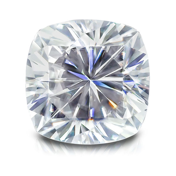 Certified Cushion brilliant cut DEF color loose moissanite diamond