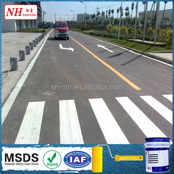 White Thermoplastic Reflective road marking paint