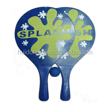 yiwu factory wholesale price wood beach tennis racket design your own logo beach tennis racket/paddle set