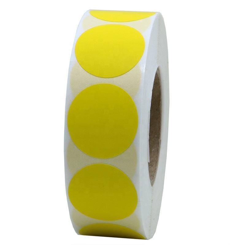 """Hybsk (TM) цвет кодирования Dot этикетки 1 """"круглый натуральный бумага наклейки клей Этикетка 1000 в рулон"""