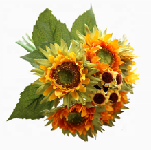 wholesale 5head artificial flowers bouquet sunflower for home decor