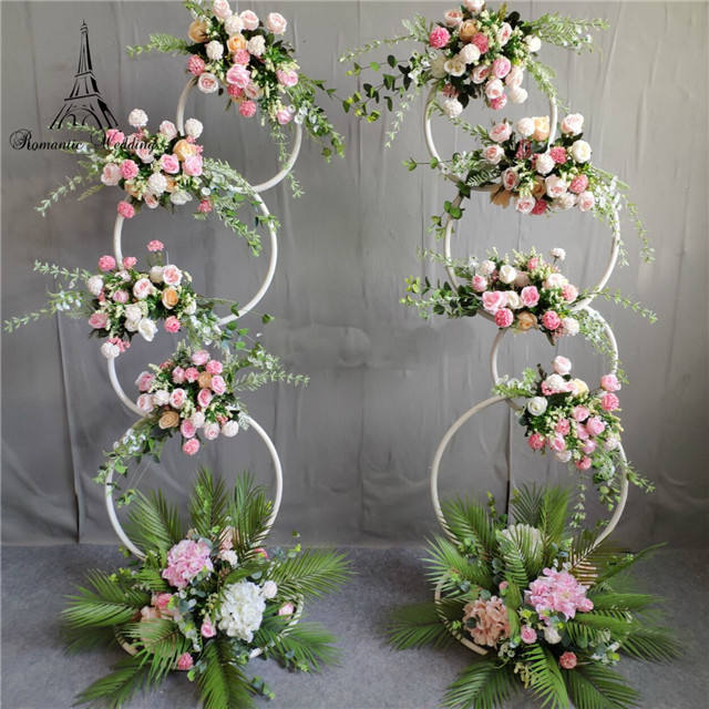 2pcs a set New Design Wedding Arch Walkway Wedding Metal Fram Backdrops For Wedding Decoration Stage Decoration