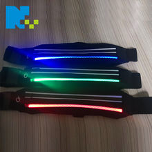 Sports Fitness Make Your Own Logo Waterproof Waist Bag OEM LED Flashing Workout Custom Fanny Pack Running
