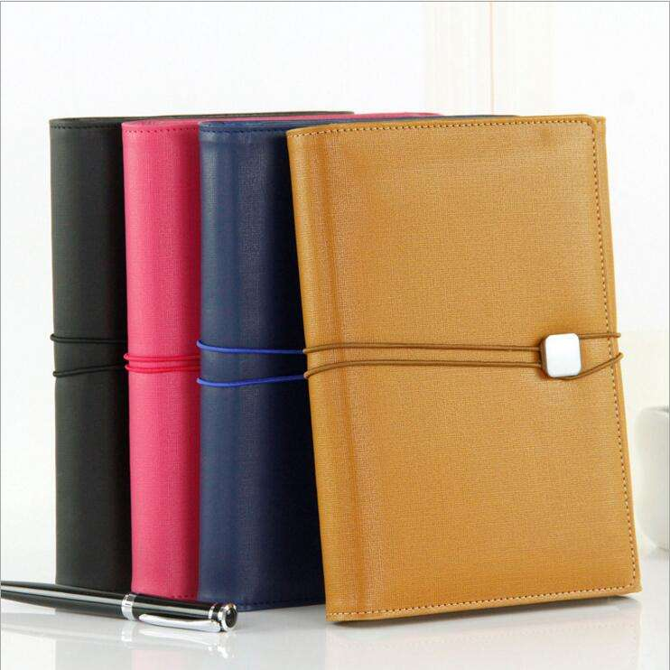 TOP10 Custom Luxury 6000AH PU Leather Powerbank Notebook with USB Video