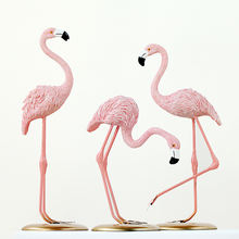 Decor Accessories Resin Pink Flamingo Garden Party Home Decoration Craft Ornaments