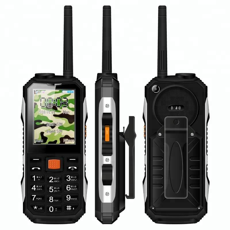 UHF Walkie Talkie Feature Mobile Phone With SIM Card