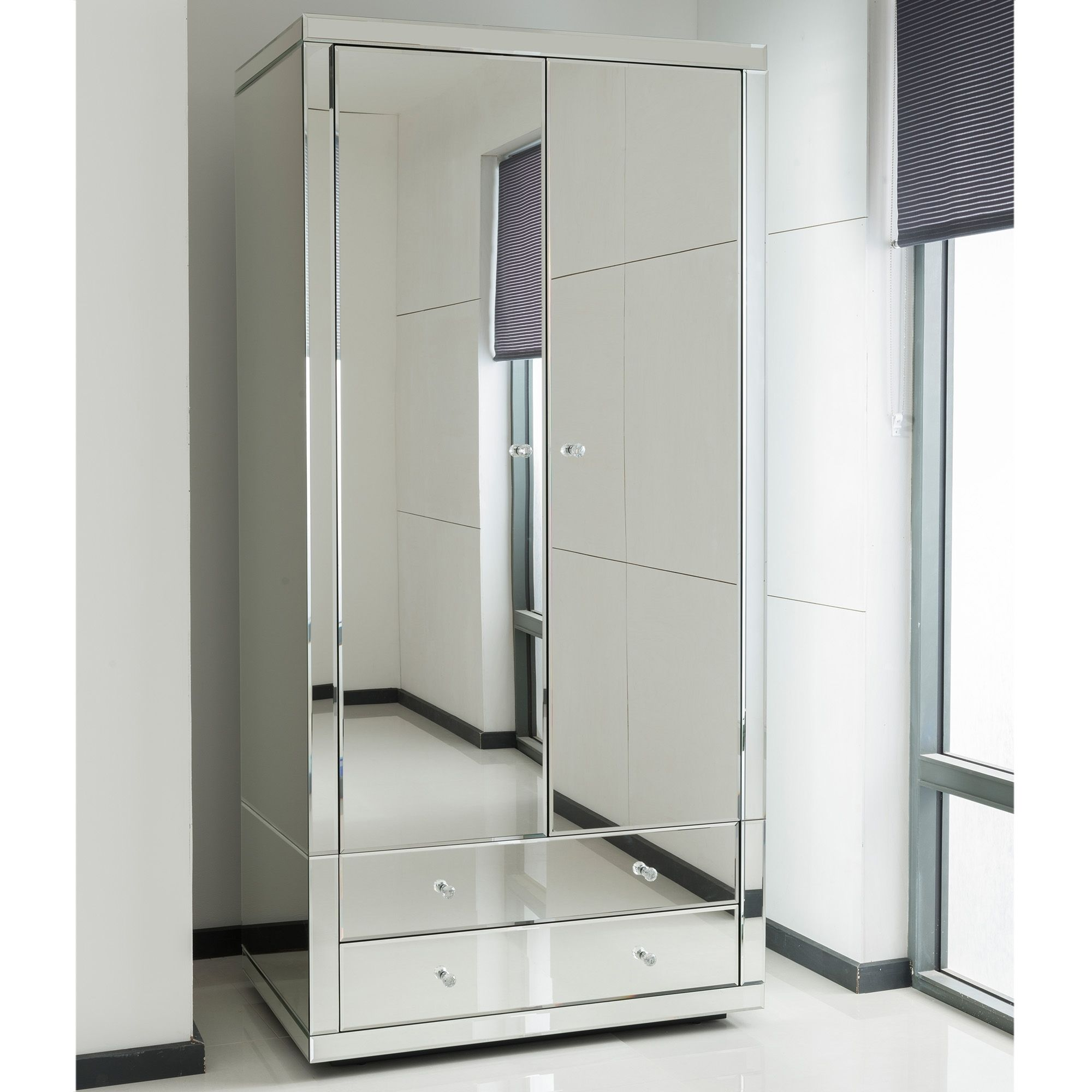 romano-crystal-mirrored-wardrobe safety tempered unbreakable glass mirror