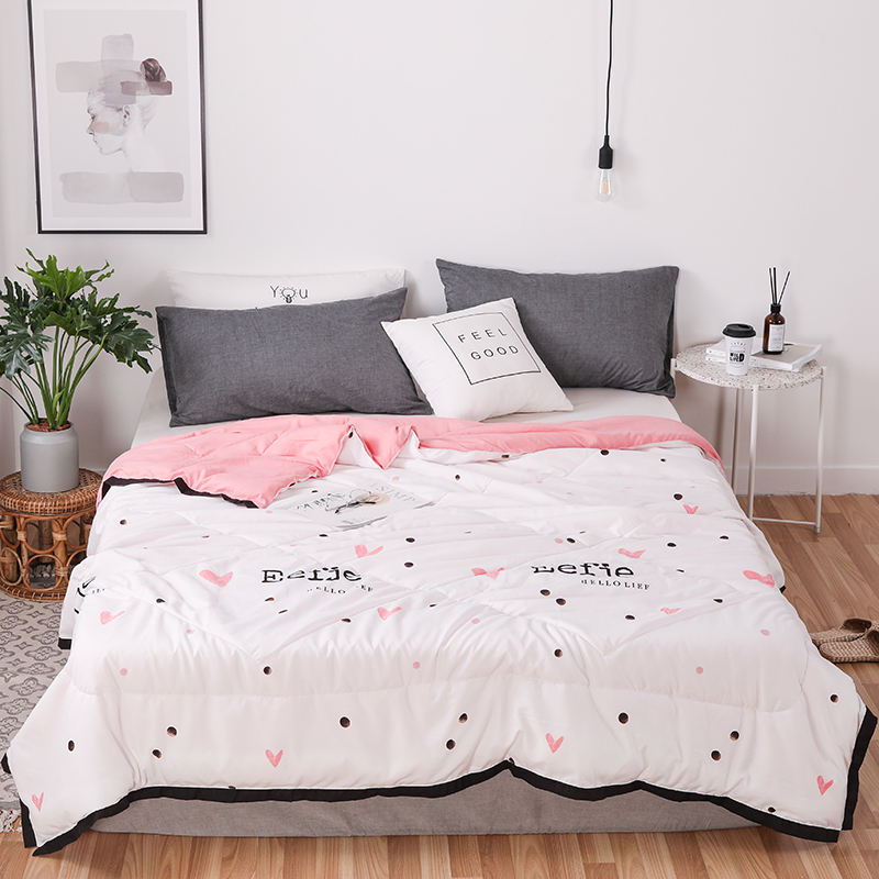 High Quality Modern Style Printing100% Polyester/Cotton Bed Summer Thin Quilt Machine Washable Blanket