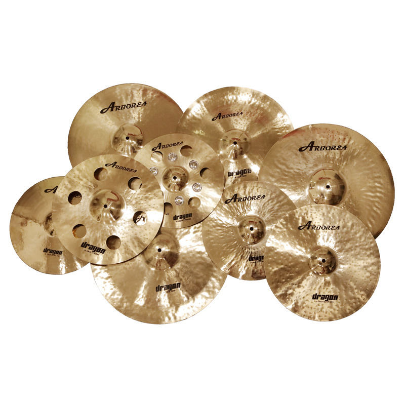 "Arborea Dragon Series Cymbal Set 14""hihat+16""crash+20""medium ride+cymbal bag B20 metal handmade professional cymbals"
