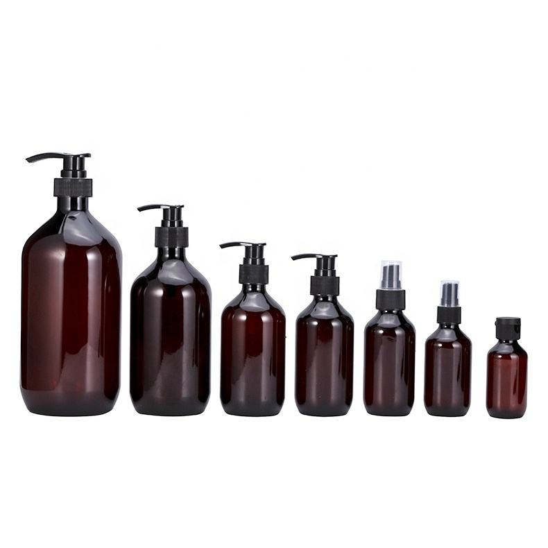 amber 100 150 ml sprayer 200 250 300 500 ml hand washing liquid bottle empty brown 1 liter plastic shampoo lotion pump bottles