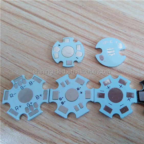 Led aluminum base, 16mm 20mm 2pin 4pin 6pin White Black Star PCB for High Power LED, SMD LED