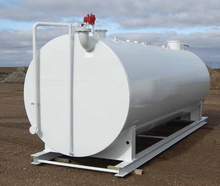 Single wall and double wall above ground steel diesel fuel storage tanks