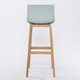 KD pp plastic modern side stool leather cushioned seat wood counter height bar stool bar high bar chair stool wooden barstool