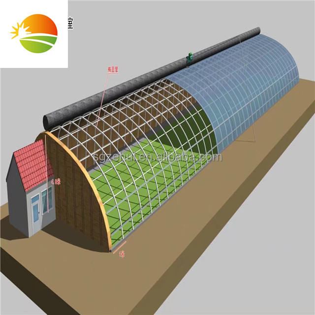 Solar heated greenhouse for cold weather
