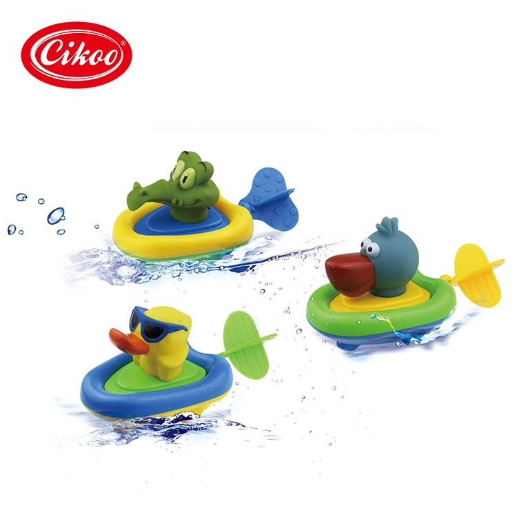 2020 New Design Hot Selling Rubber Race Duck Toys Kid Animal Bath Toy Wind Up