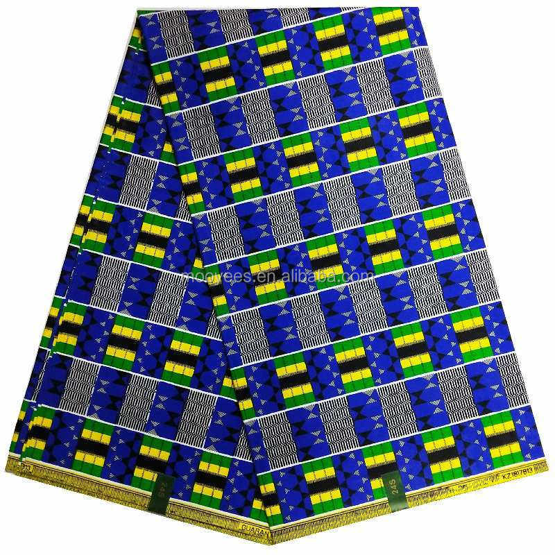high quality royal blue kente design 100% cotton dashiki popular design veritable wax fabric for party