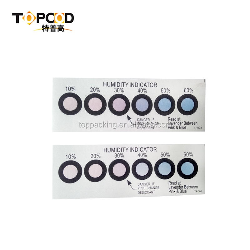 Vacuum Packed Changeable Color Humidity Indicator Card (HIC)