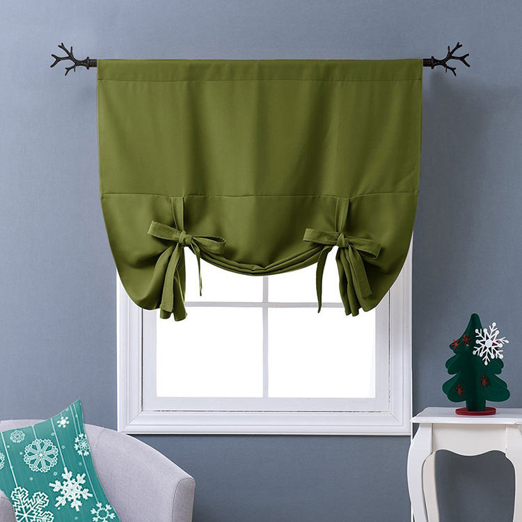 Blackout Drapery Curtain Olive Green for kitchen room