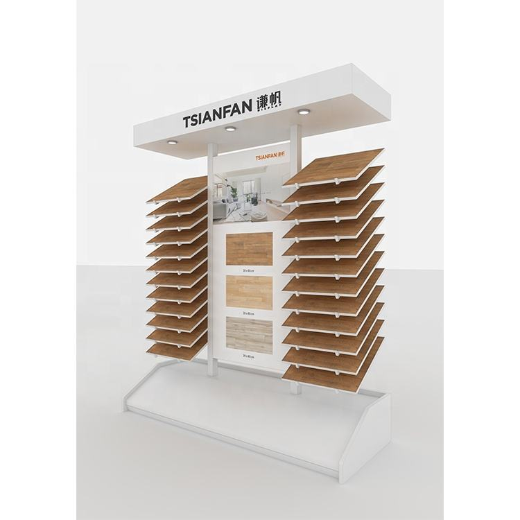 WD021-High Capacity Wood Floor Tile Display Stand