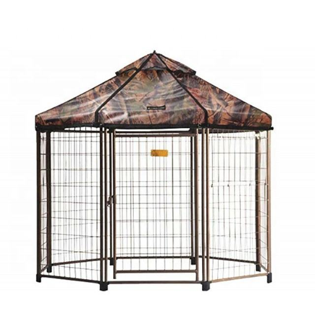 Original Pet Gazebo Outdoor Dog Kennel with Reversible Cover