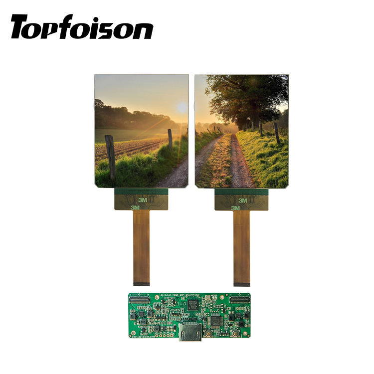 [HOT]Topfoison 3.81 inch Dual 90hz OLED 1080*1200 AMOLED Micro display oled screen for VR
