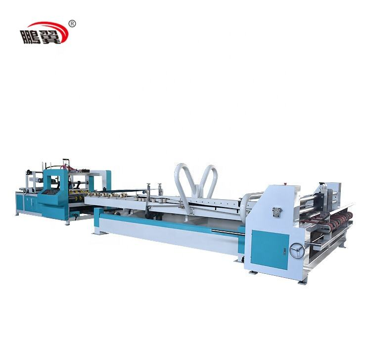 ZH-QZD 2600 2019 New Full Automatic Corrugated Carton Box Folder Gluer Price