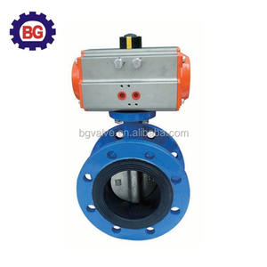 Double Flanged Butterfly Valve with Pneumatic Actuator
