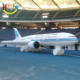 airport opening ceremony inflatable replica plane