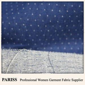 PARISS tecido de fios tingidos 100 algodão gaze dupla