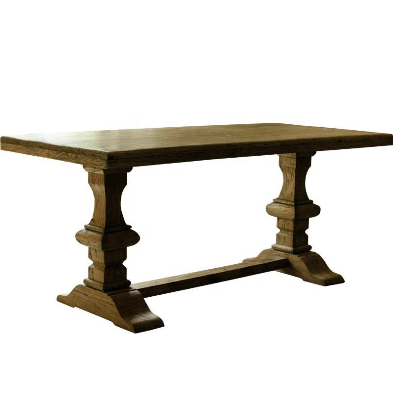 American style coffee table reclaimed leisure solid wood rustic quality rustic refectory dining table