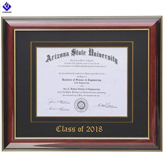 Custom Masters Certificate Documents Certificate Gold Wood Diploma Frame
