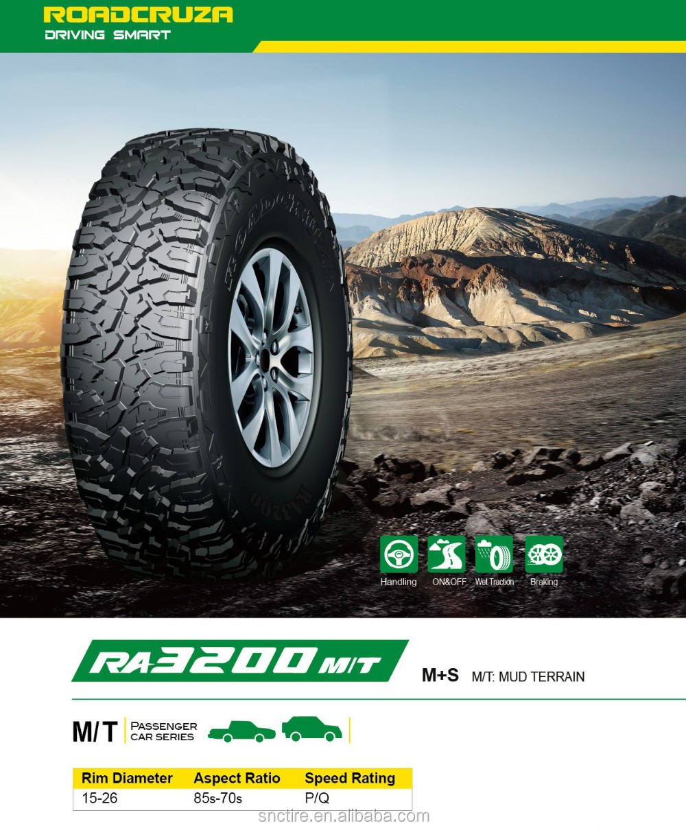 M/T Car tires with good price used in Mud terrain off road from China mt tires comforser