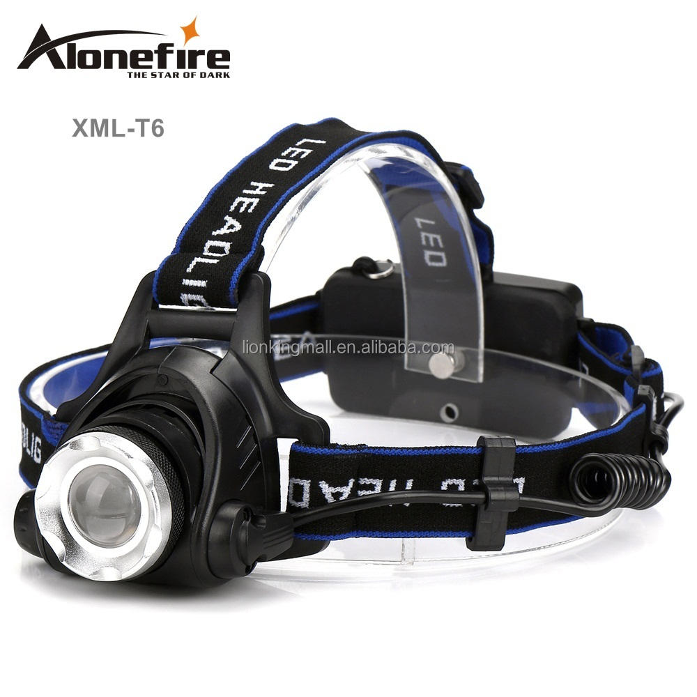 AloneFire HP79 Zoomable LED Headlight XML-T6 Headlamp led Head lights Fishing Hiking lamp Camping High power frontale BIKE light