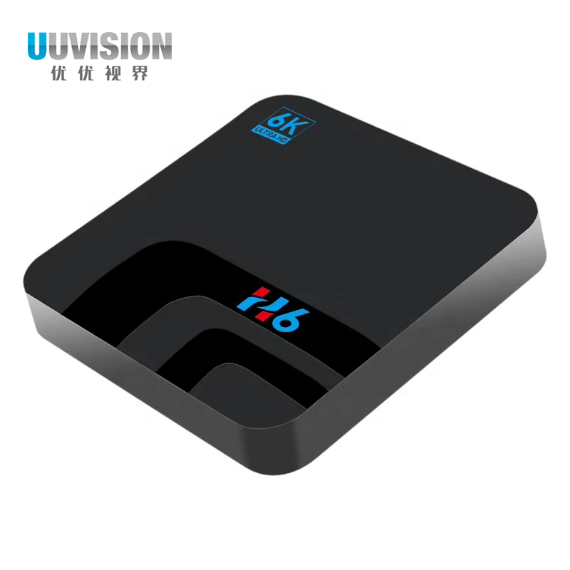 UUVISION voice control Android 8.1 android tv box with TF card H6 Smart Tv Box TV Box Android 6k